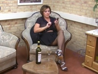 Drunk Legs Mature Stockings