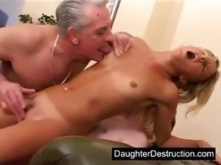 Daddy stuck his cock in my mouth and pussy