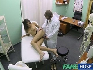 FakeHospital Hot girl with big tits gets doctors treatment before learning...