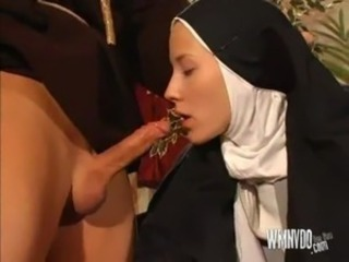Nun And Priest, dildo toys nun priest anal coitus blowjob cumshot facial...