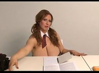 Big Tits Natural Pigtail Student