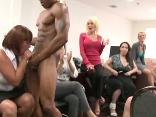 Blowjob  Interracial  Office Party