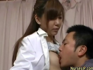 Asian Japanese  Nipples Nurse Small Tits Uniform