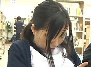 Shy Schoolgirl groped and used in a school library