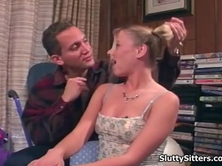 Hot Babysitter Ends Up Fucking Her Chief