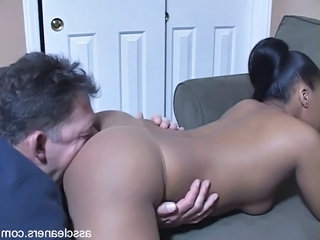 Sulky Mistress Demands Old Man To Have a go Say no to Ass Licked
