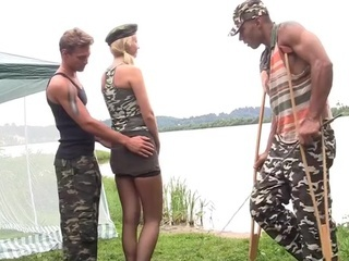 Army Gangbang Interracial Outdoor Teen Uniform