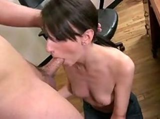 Skinny Secretary Katie Give A Nice Blowj...