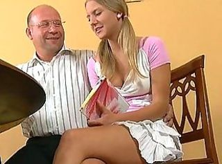 Daddy Old and Young Pigtail Teacher Teen