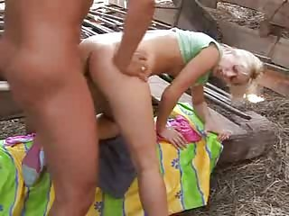 Tight Blonde Fucked Outside In Alley