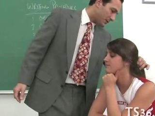 Teacher Drills Schoolgirl