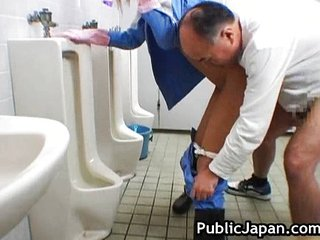 Asian Cute Old and Young Toilet