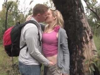 Real Amateur Outdoor Blowjob Couple