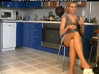 Russian Mom Fucks In Kitchen Russian Cumshots Swallow
