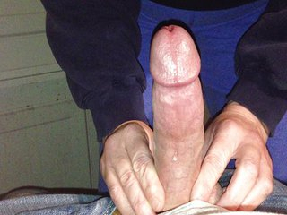 A River Of Pre-cum Flowing Out Of My Fat Cock