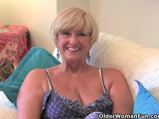 Chubby Grandma With Big Old Tits Fucks A Vibrator