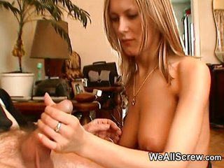 Old Man Wanks While Rubbing A Teens Tits