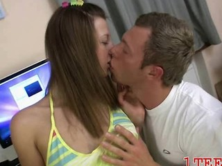 Cute Kissing Teen