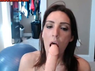 Tiny Tits Brunette Riding Cock
