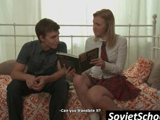 Shy Russian Schoolgirl Get Body Kissed
