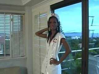 Asian Tgirl Latex Nurses 03 - Scene 1