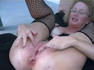 Amateur Fishnet Glasses  Pussy Wife