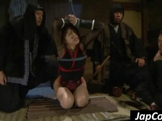 Tied Up Asian Slave Gets Mouth Fucked De...