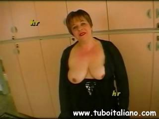 Two different amateur Italians more scenes blowing or banging