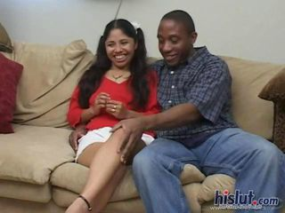 Dominica Diaz is an exotic young lady with an eagerness to suck cock and a willingness to do the kinkiest things to make her man happy. That includes gobbling down a dick she can barely fit in her mouth and then getting a thick load of jizz drop