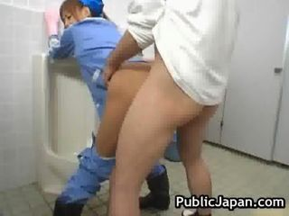 Asian Clothed Doggystyle Hardcore Japanese Public Toilet Uniform