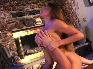Busty MILF Stevie Nailed By The Fireplace