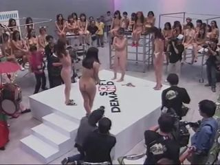 Asian Japanese Nudist Party Public