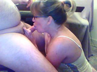 Blowjob Glasses Mature Older Small cock Webcam Wife