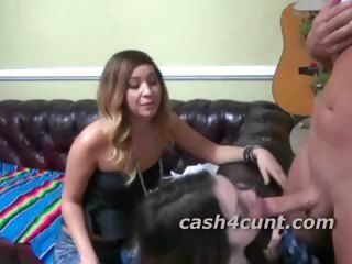 Amateur Blowjob Cash Teen Threesome
