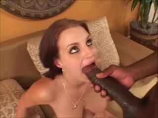 Babe  Blowjob Interracial Pornstar