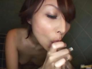 Asian Blowjob Japanese Small cock Toilet