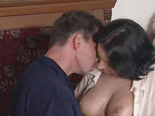 Brunette MILF rides a thick cock .F