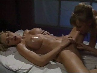 Big Tits Fisting Lesbian Massage  Oiled Silicone Tits