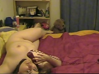 Chubby Girl Masturbating At Phone