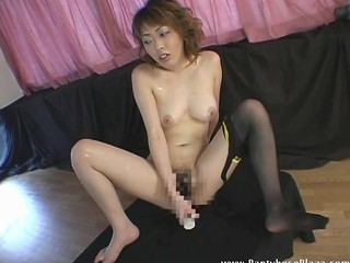 Asian Babe Japanese Masturbating Toy
