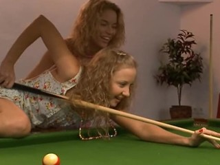 Lesbo Revenge On the top of The Billiards