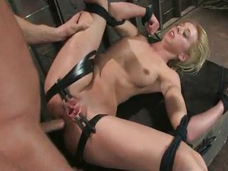 Submissive Blonde Fucked In The Ass