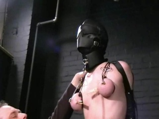 Gimp Masked Slavegirl Cherry Torn Tortured And Mercilessly Caning Of Blonde American Amulet Centerfold In Bondage, Hooter Torments And X-rated Sadism