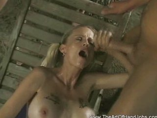Cumshot Handjob  Outdoor Pigtail Swallow Tattoo
