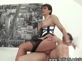 Amazing Big Tits British Corset European  Pornstar Riding Stockings