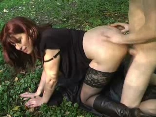 Clothed Doggystyle  Outdoor Stockings