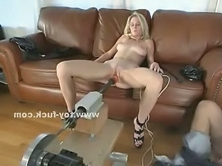 Blonde Screaming While Masturbating