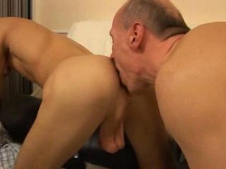 Watch this young twink get brutally fucked by old daddy