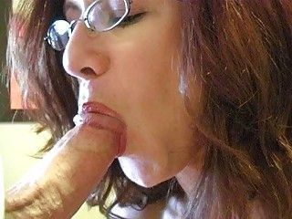 Blowjob Glasses Mature Mom