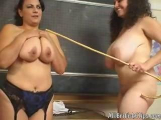 Big Tits British Chubby European Lesbian  Natural School Teacher